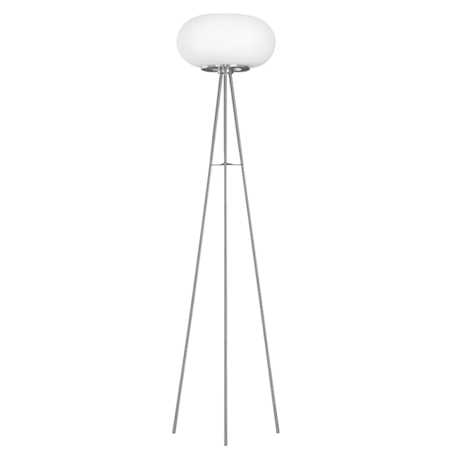 lampadaire boule optica h157 cm blanc