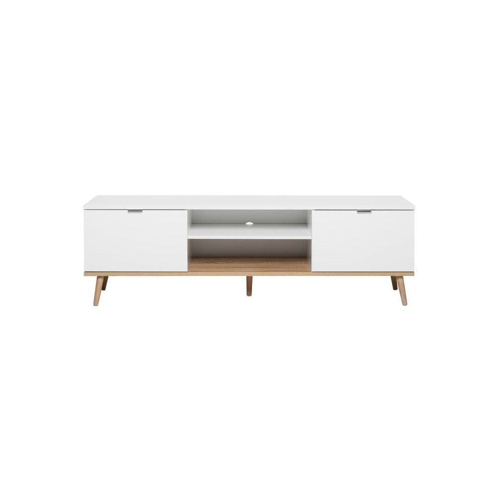 marque generique meuble tv meuble hi fi goteborg meuble tv scandinave blanc l 160 cm