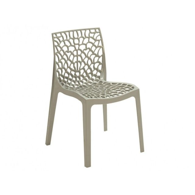 chaise gris perle gruvyer s6316gp