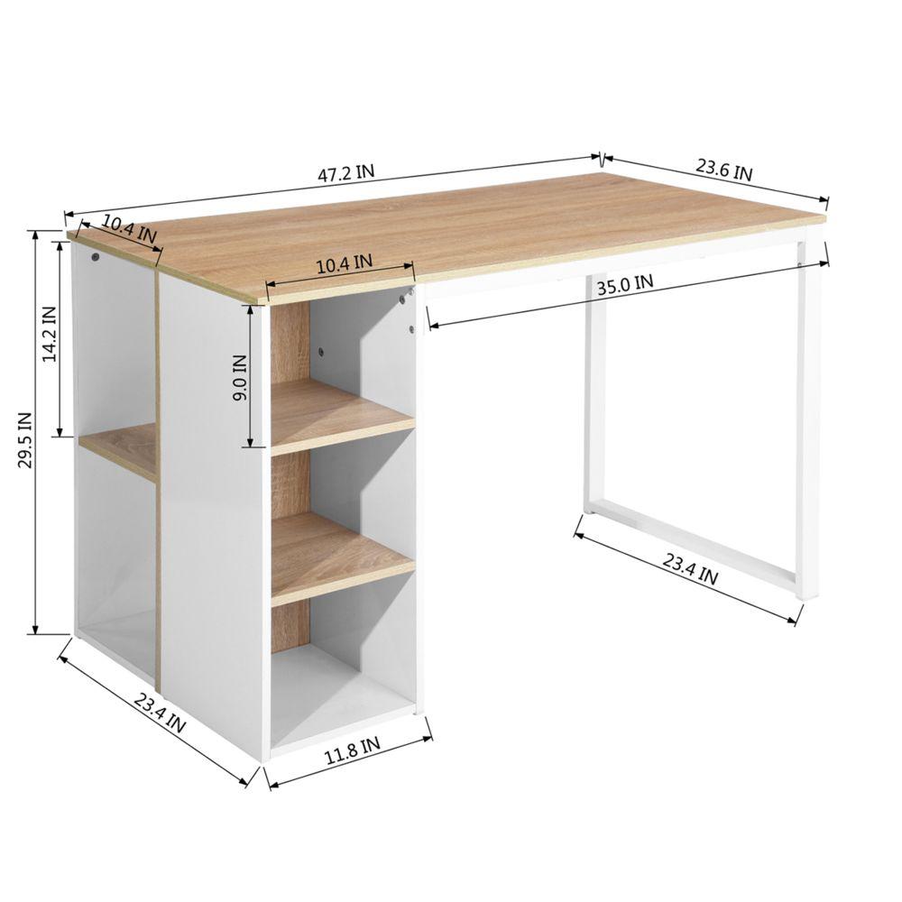 meuble express bureau chene blanc