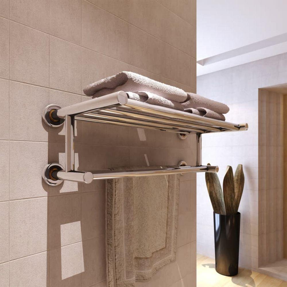 marque generique chic accessoires de salle de bain collection bratislava porte serviettes double barre fixe 6 tubes
