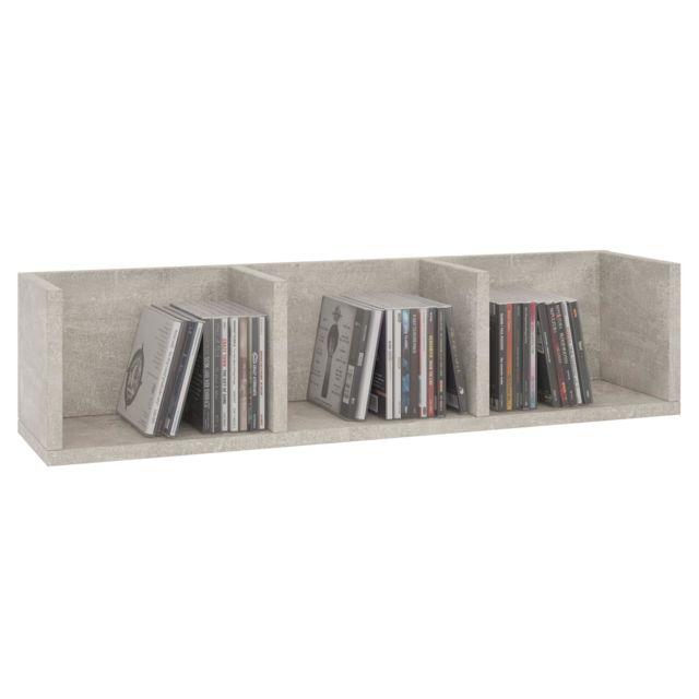 etagere murale nello meuble de rangement pour cd et dvd ou decoration avec 3
