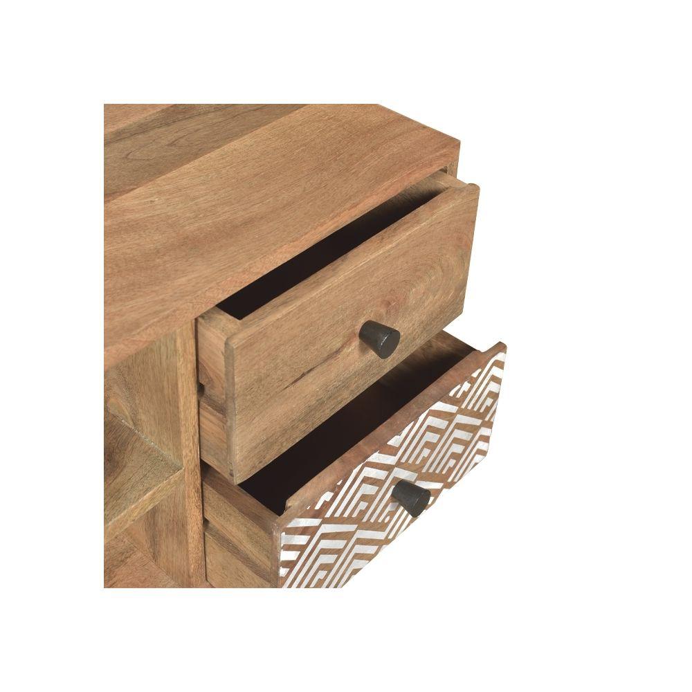 rendez vous deco meuble tv tali en bois 2 niches 4 tiroirs