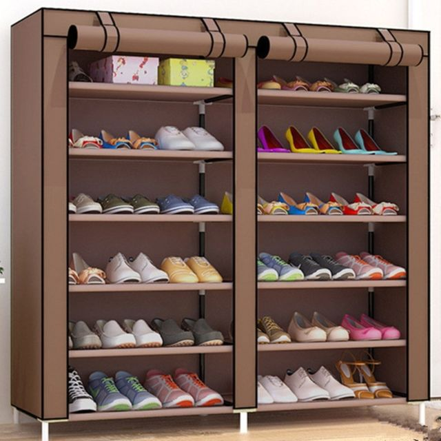 tissus non tisses grand organisateur pour etagere a chaussures meubles de
