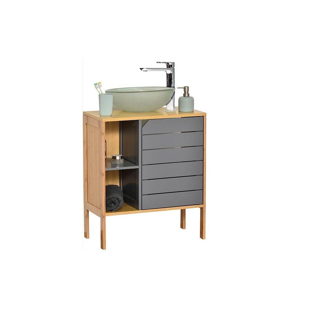 tendance meuble sous lavabo bambou noumea gris