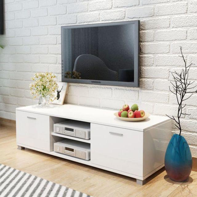 superbe meubles categorie mexico meuble tv a haute brillance blanc 140 x 40 3 x
