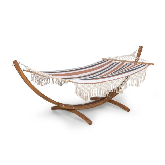 blumfeldt bali swing hamac cadre en bois de meleze charge 160kg max