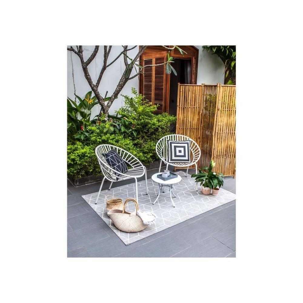 marque generique salon de jardin ensemble table chaise fauteuil de jardin opoa salon de jardin 2 places 2 fauteuils et une table basse en metal