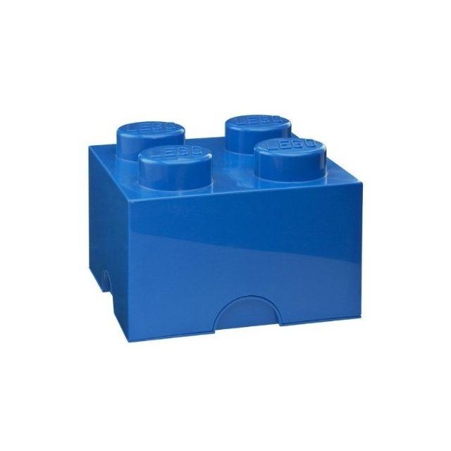 brique de rangement 4 tenons bleu