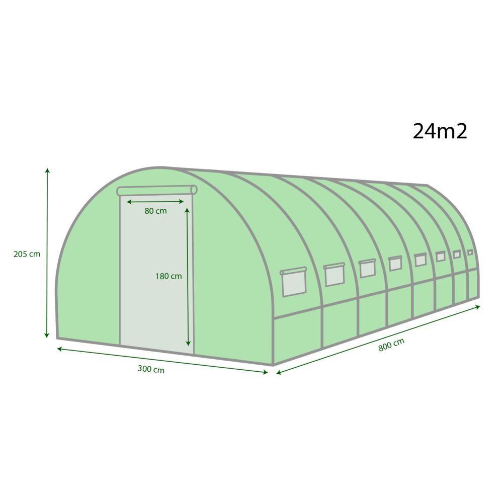 jt2d serre de jardin tunnel bache