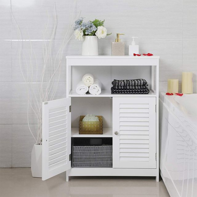 meuble bas de salle de bain armoire toilette buffet commode avec 1 porte a