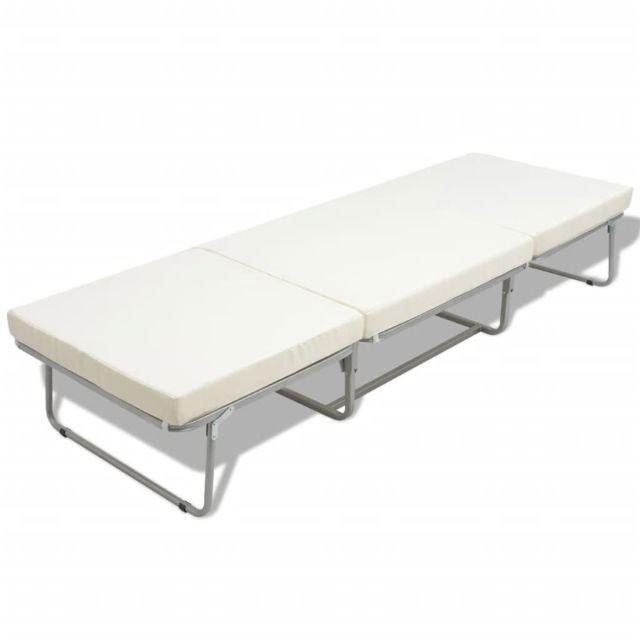 icaverne lits et cadres de lit selection lit tabouret pliant avec matelas 200