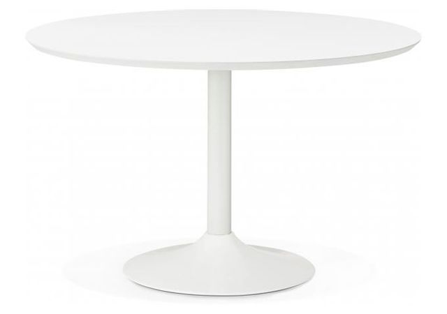 table a manger ronde blanche pied blanc d120 barnet