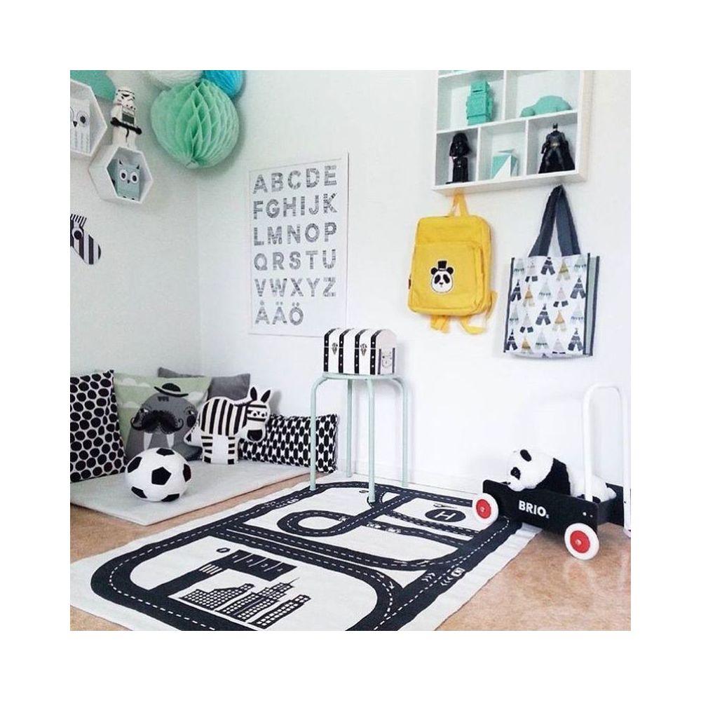 swissant swissant tapis de jeu circuit voiture de course pour bebe enfant tapis rectangle en coton decoration de salle