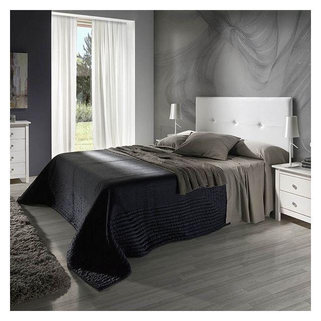 tete de lit judith 160x55 blanc en cuir synthetique