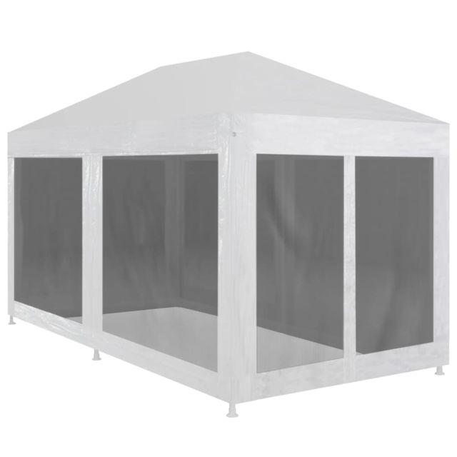vidaxl tente de reception 6 parois en maille 4x3 m jardin pavillon tonelle