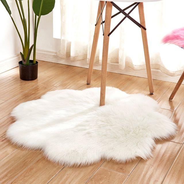 90cm fleur shaggy tapis salon zone tapis enfants jouent tapis blanc jaune