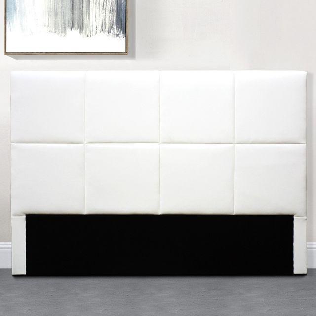 tete de lit design alexi blanc tete de lit 160 cm