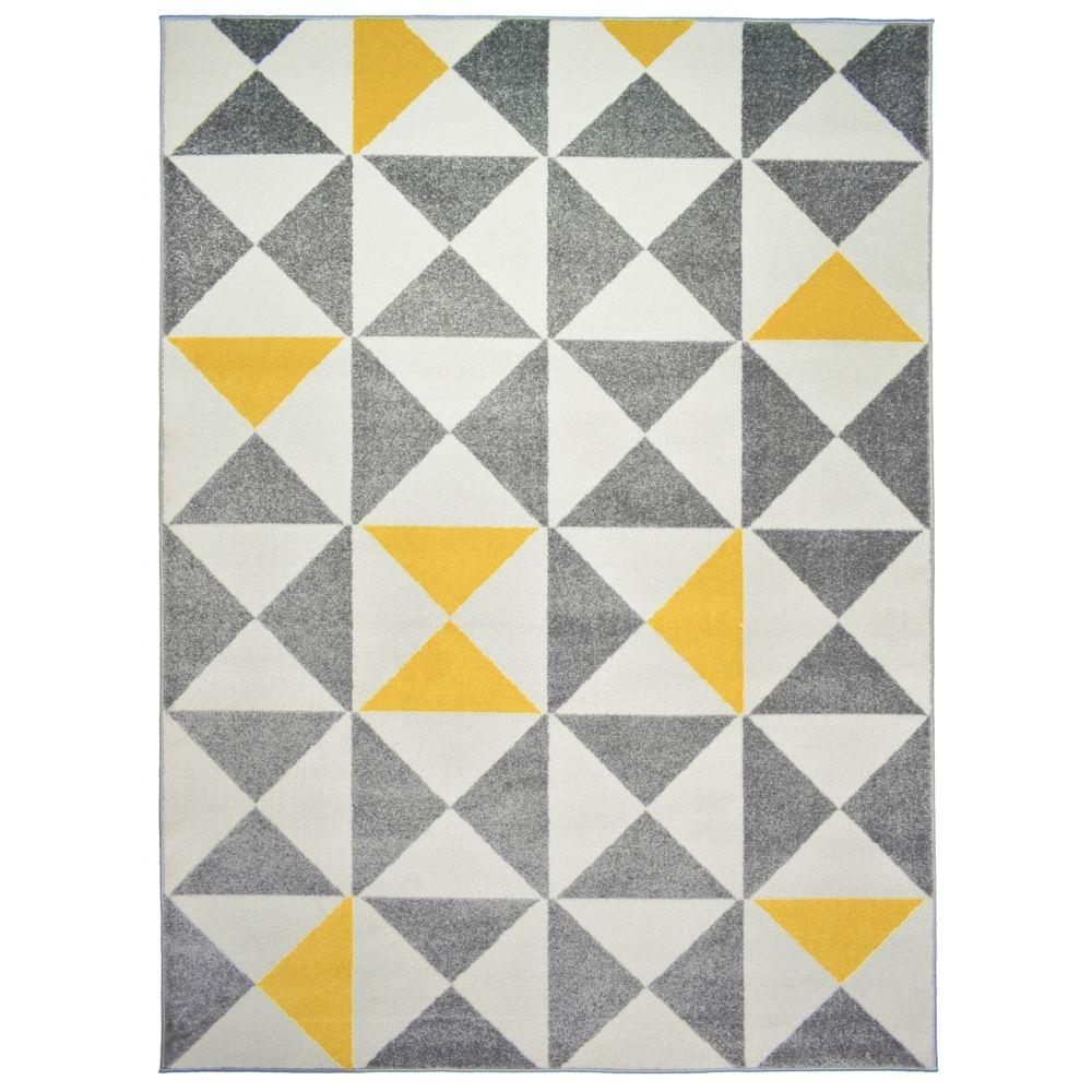 tapis scandinave jaune
