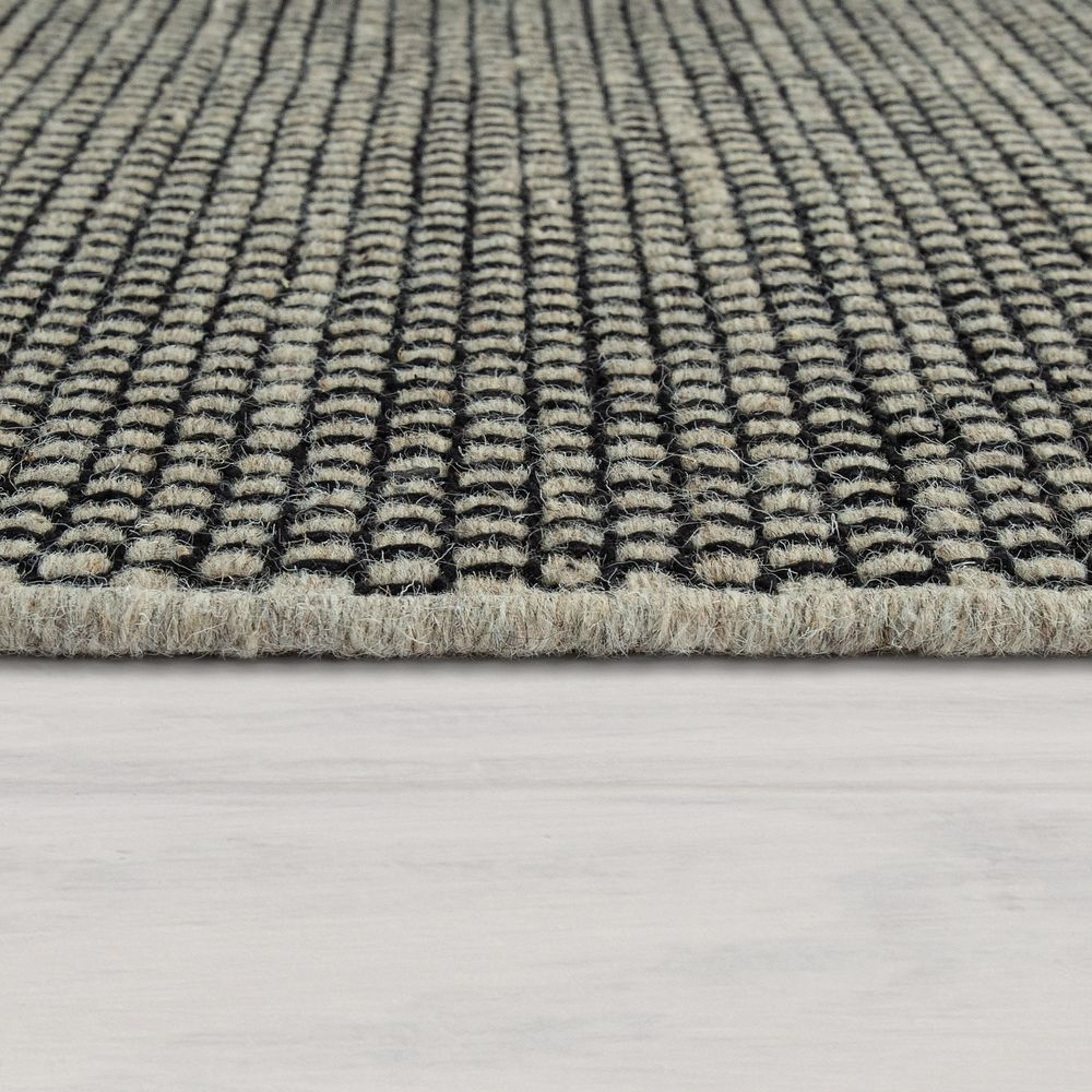 paco home tapis tisse main tissage a plat style scandinave chine motif tisse gris