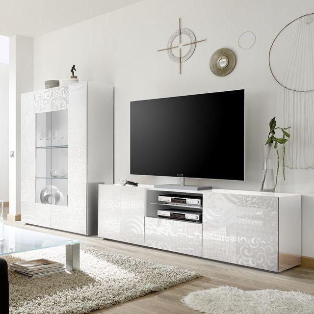 grand ensemble tele blanc laque design nerina