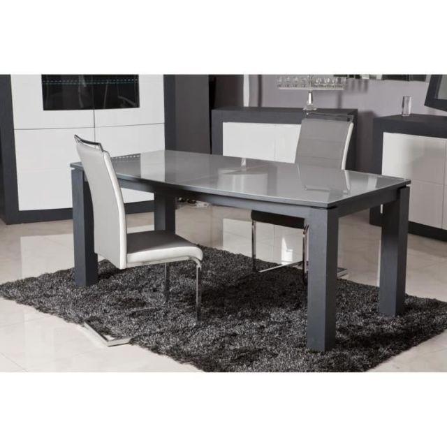 chaise dylan lot de 2 chaises de salle a manger simili gris et blanc