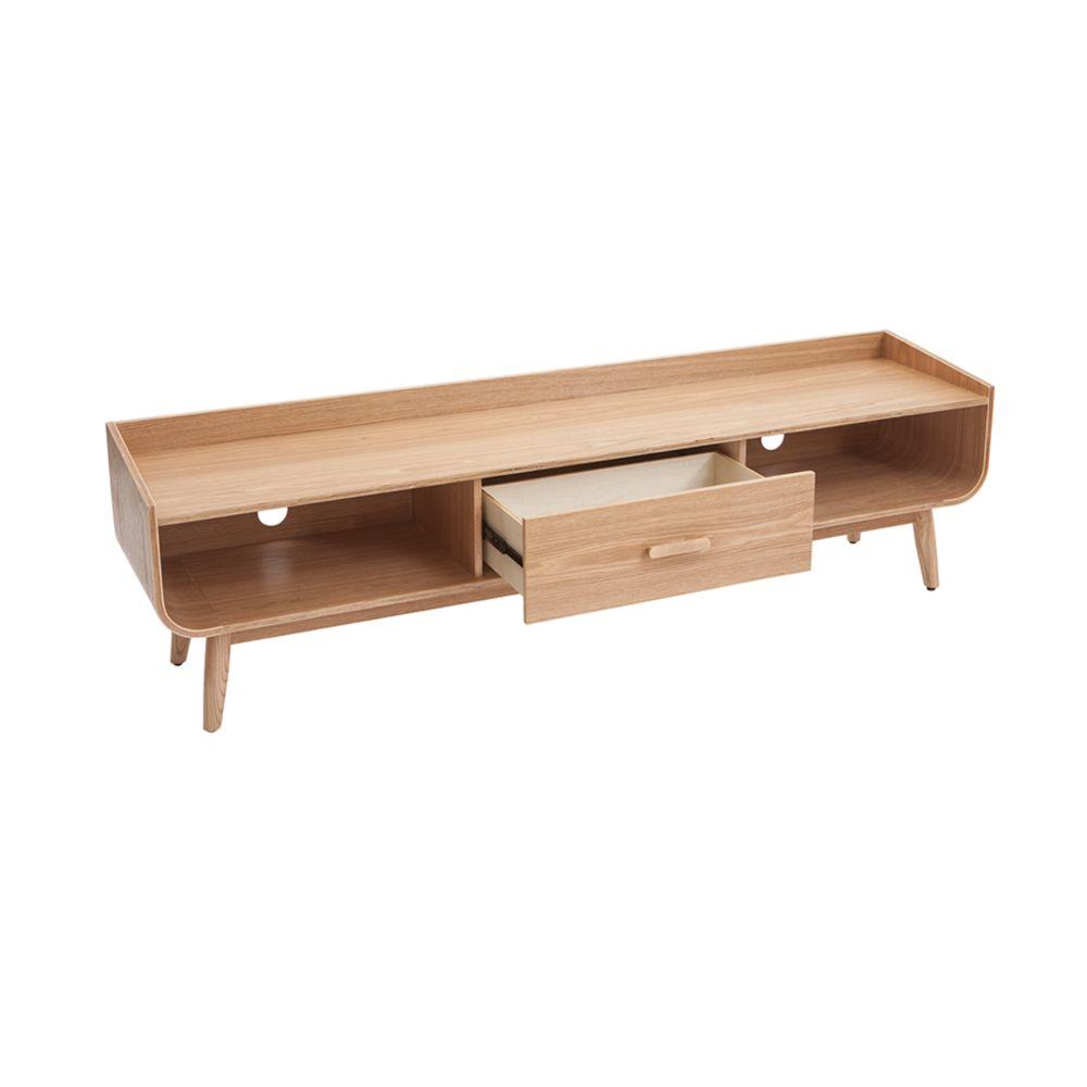 meuble tv scandinave frene 180 cm