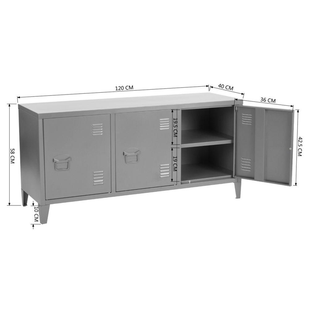 mobilia meuble tv caisson metal