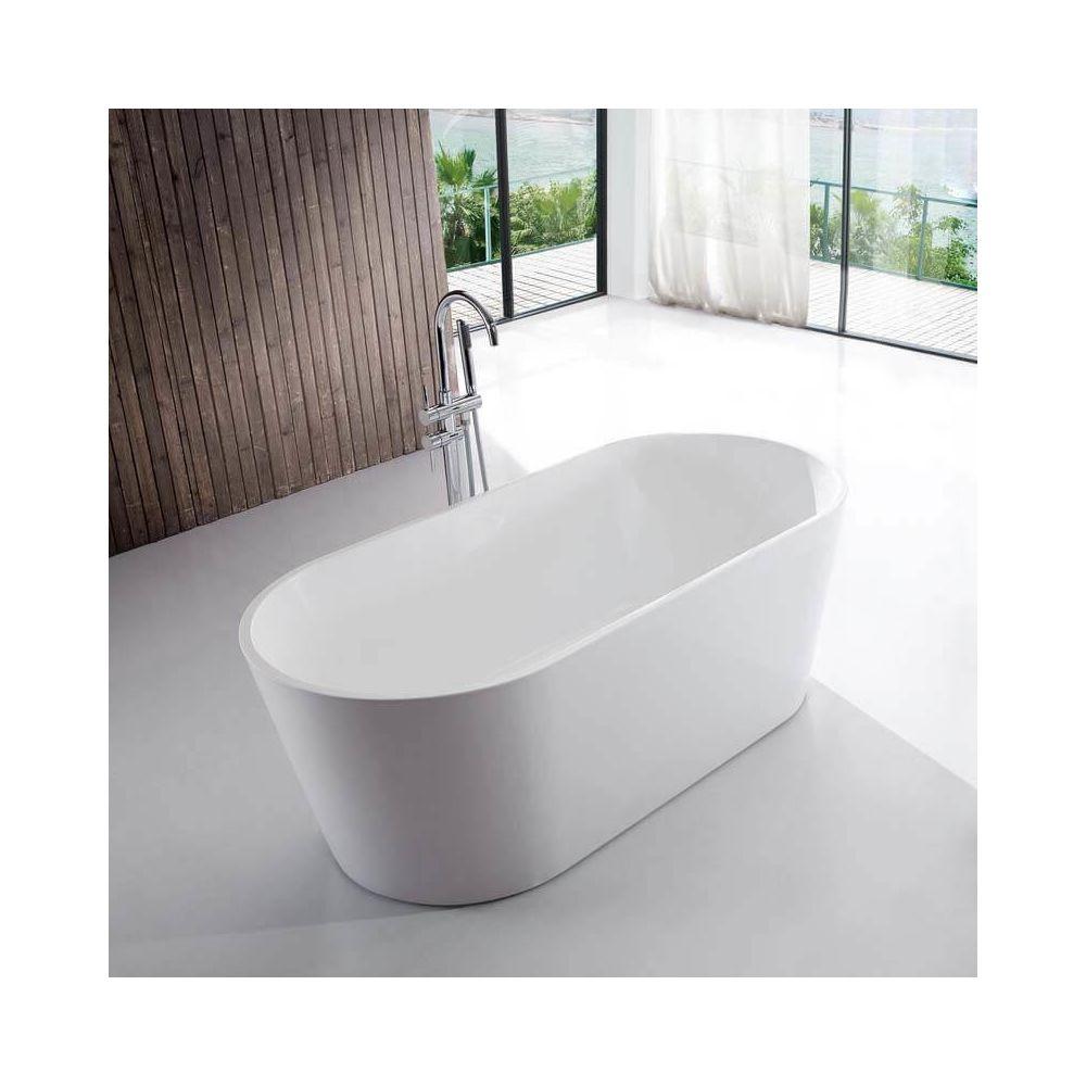 rue du bain baignoire ilot ovale acrylique blanc 120x65 cm rome