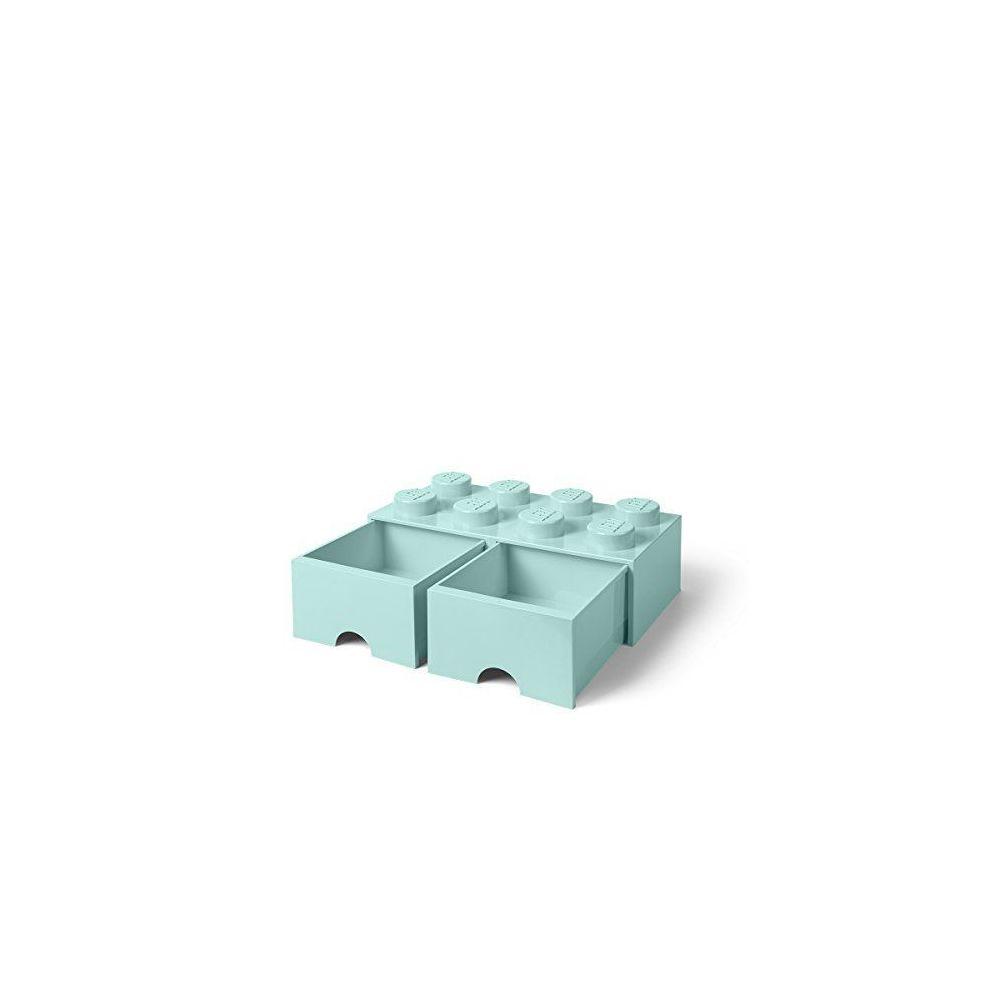 lego briques lego tiroir 8boutons 2tiroirs empilable boite de rangement 9 4l aqua vert menthe 323 aqua bleu clair