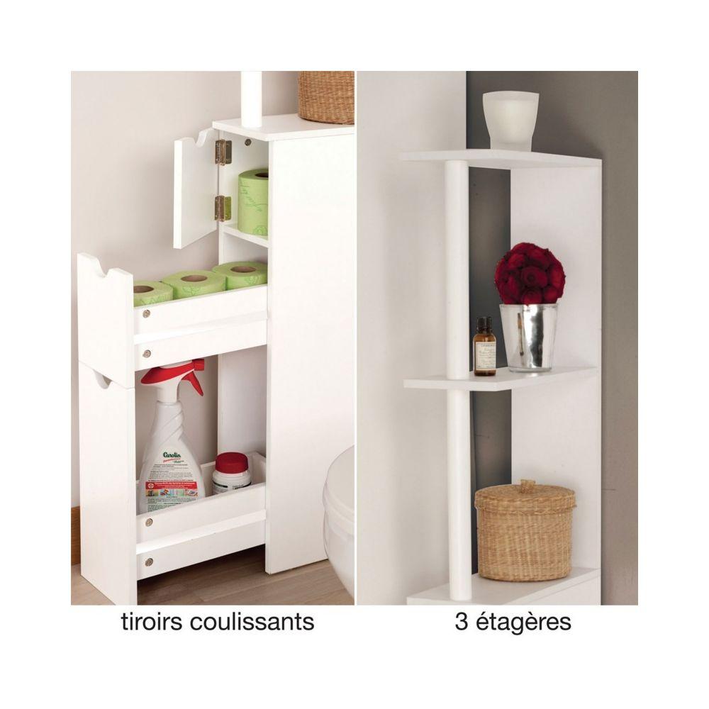 meuble wc etagere bois gain de place