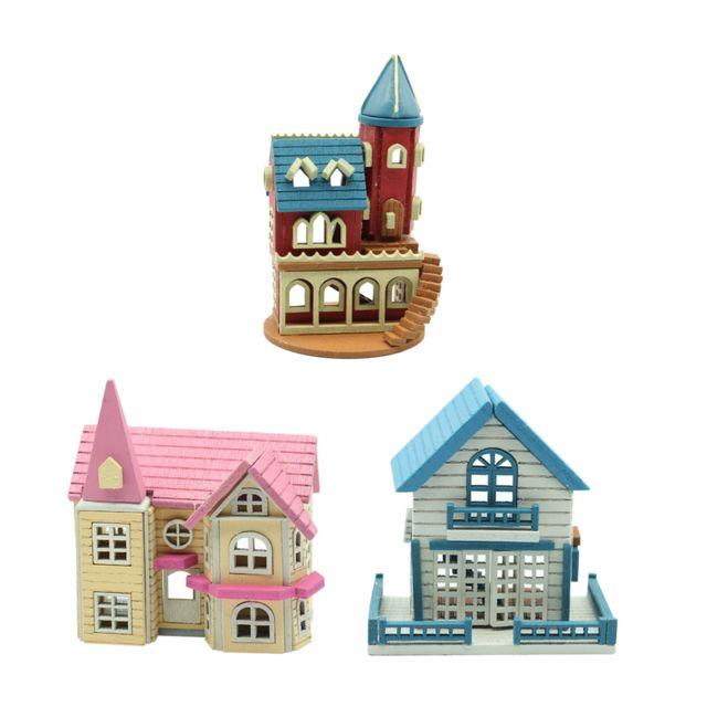 kit de maison de poupee miniature bricolage bois