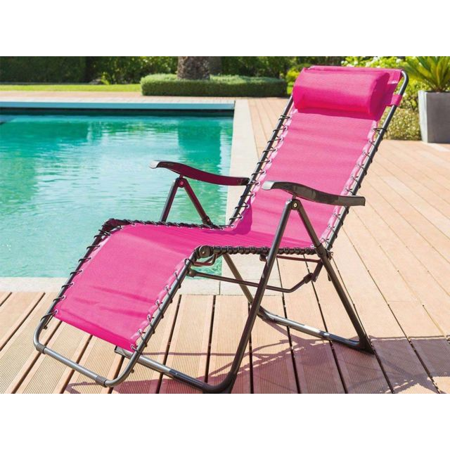 fauteuil de jardin relax silos framboise