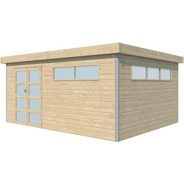chalet en bois profil aluminium contemporain 18 67 m avec plancher gouttiere