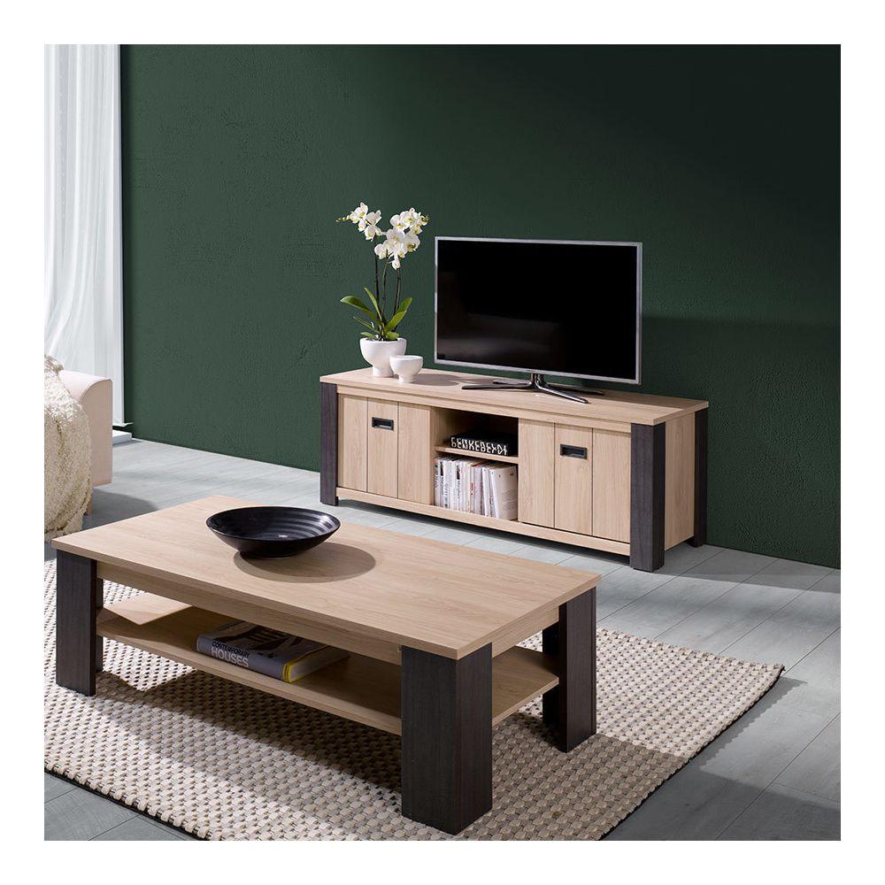 meuble tv 150 cm contemporain couleur