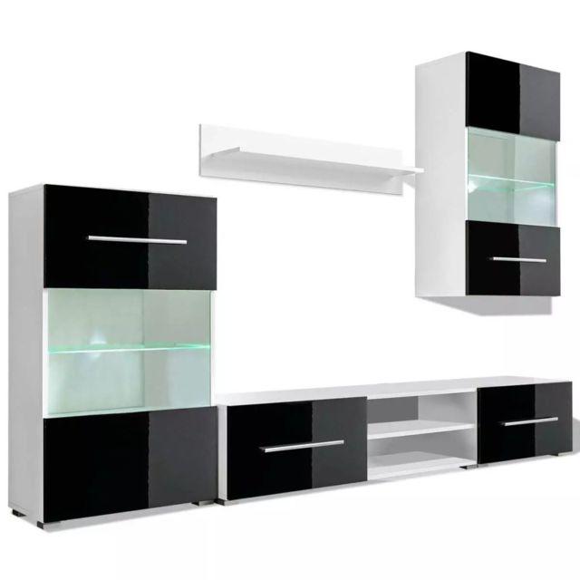 meuble tele buffet tv television design pratique mural 5 pieces avec