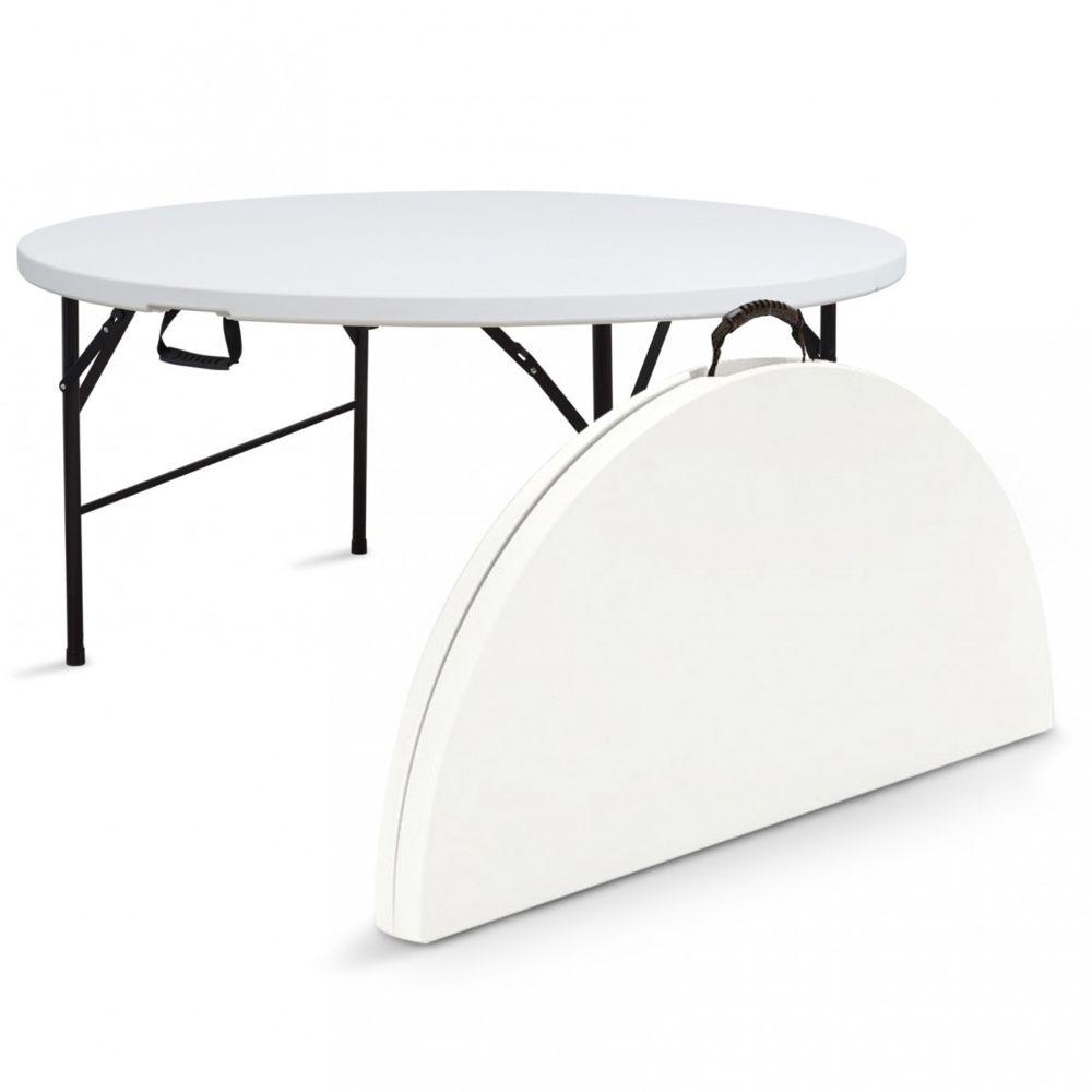 table pliante de camping ronde 150cm 8