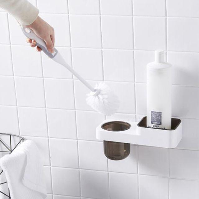 set de brosse de toilettes wc mural