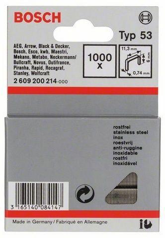 lot de 1000 agrafes type 53 inox 6 0mm bosch 2609200214