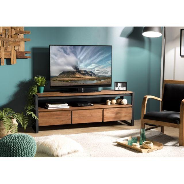 meuble tv teck rue du commerce