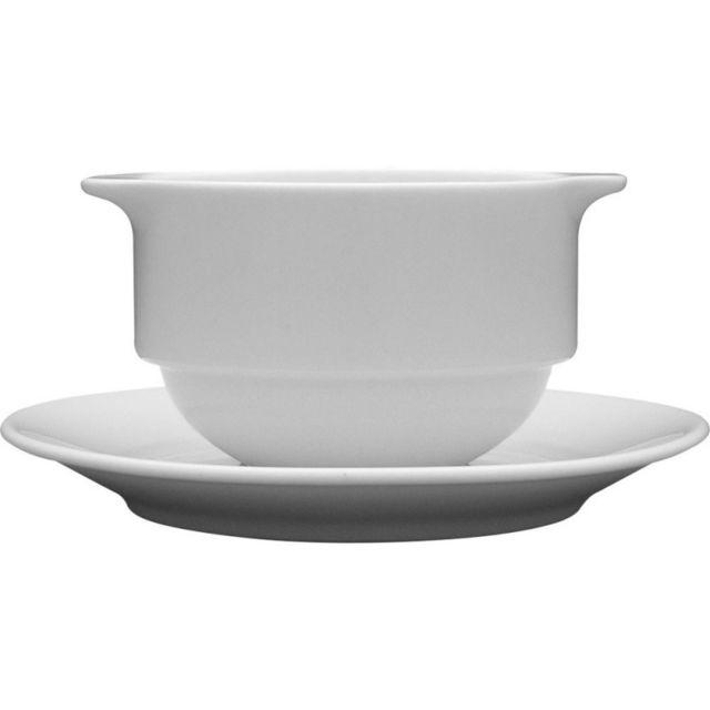 bol a soupe avec anses porcelaine wersal 300 ml lot de 6 stalgast 12 5