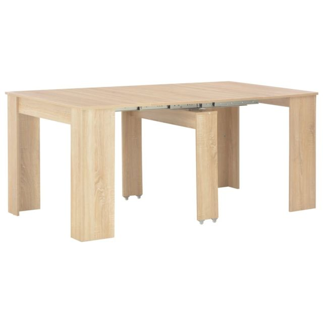 vidaxl table a diner extensible chene sonoma salle a manger cuisine maison