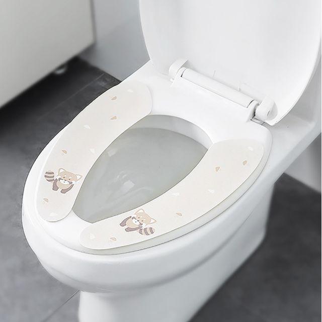 couvercle de siege de toilette chaud doux coussin de couvercle salle de bain wc