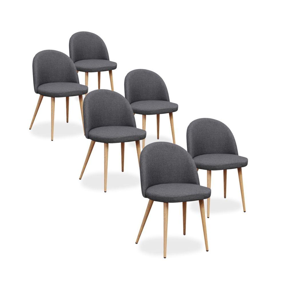 lot de 6 chaises scandinaves cecilia