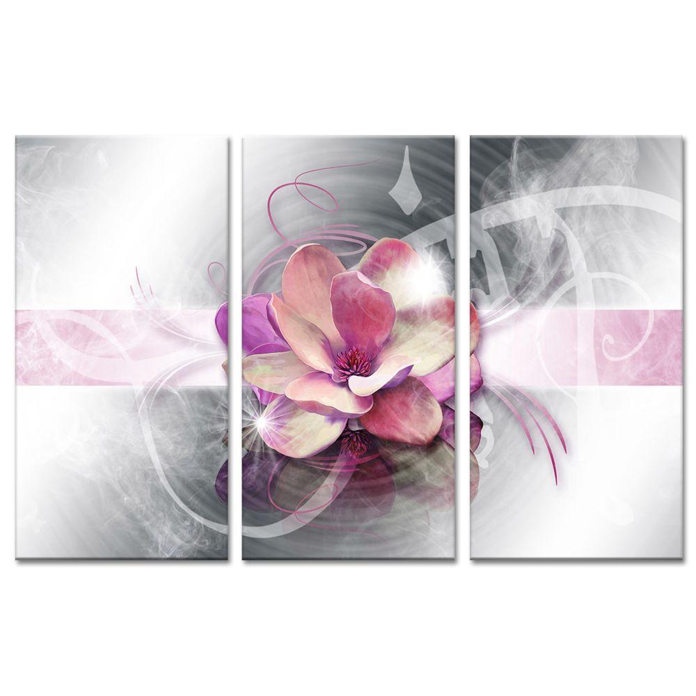 declina cadre triptyque fleur rose deco zen vente tableaux modernes