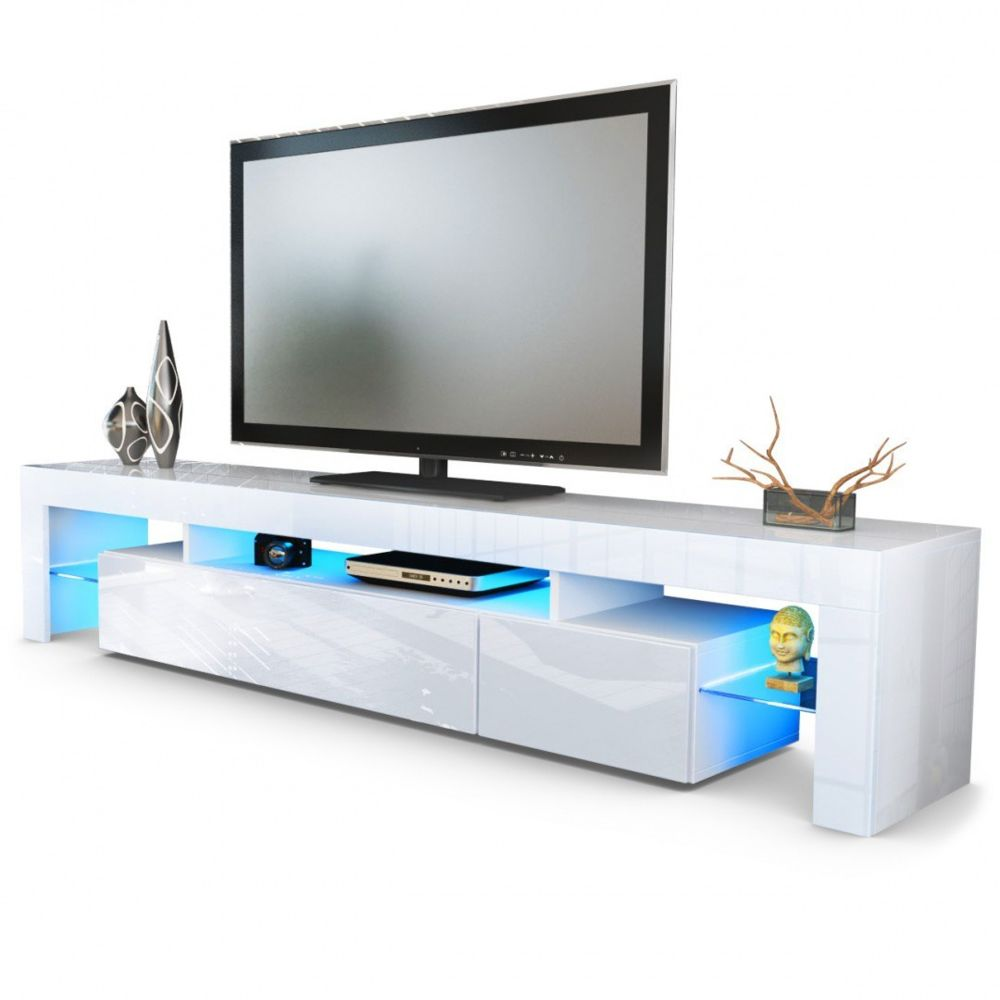 mpc meuble tv blanc 189 cm sans led