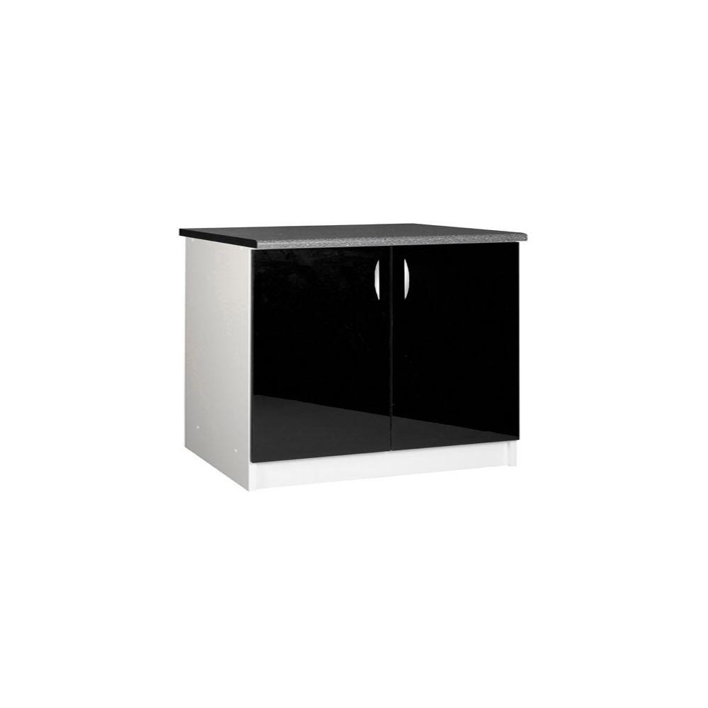 meuble bas de cuisine 120 cm 2 portes