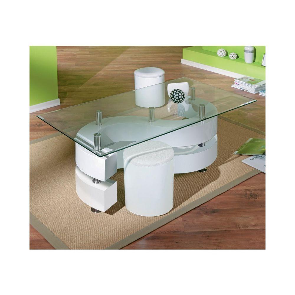 table basse design en verre vertigo