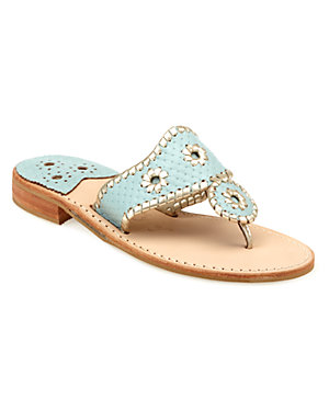 Turquoise and Gold Jack Rogers Sandals