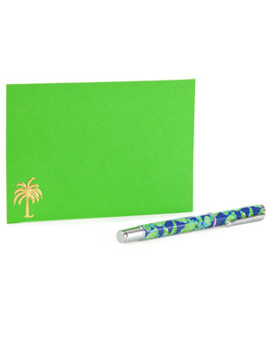 Lilly Pulitzer 'Fallin' in Love' Pen & Notecard Set